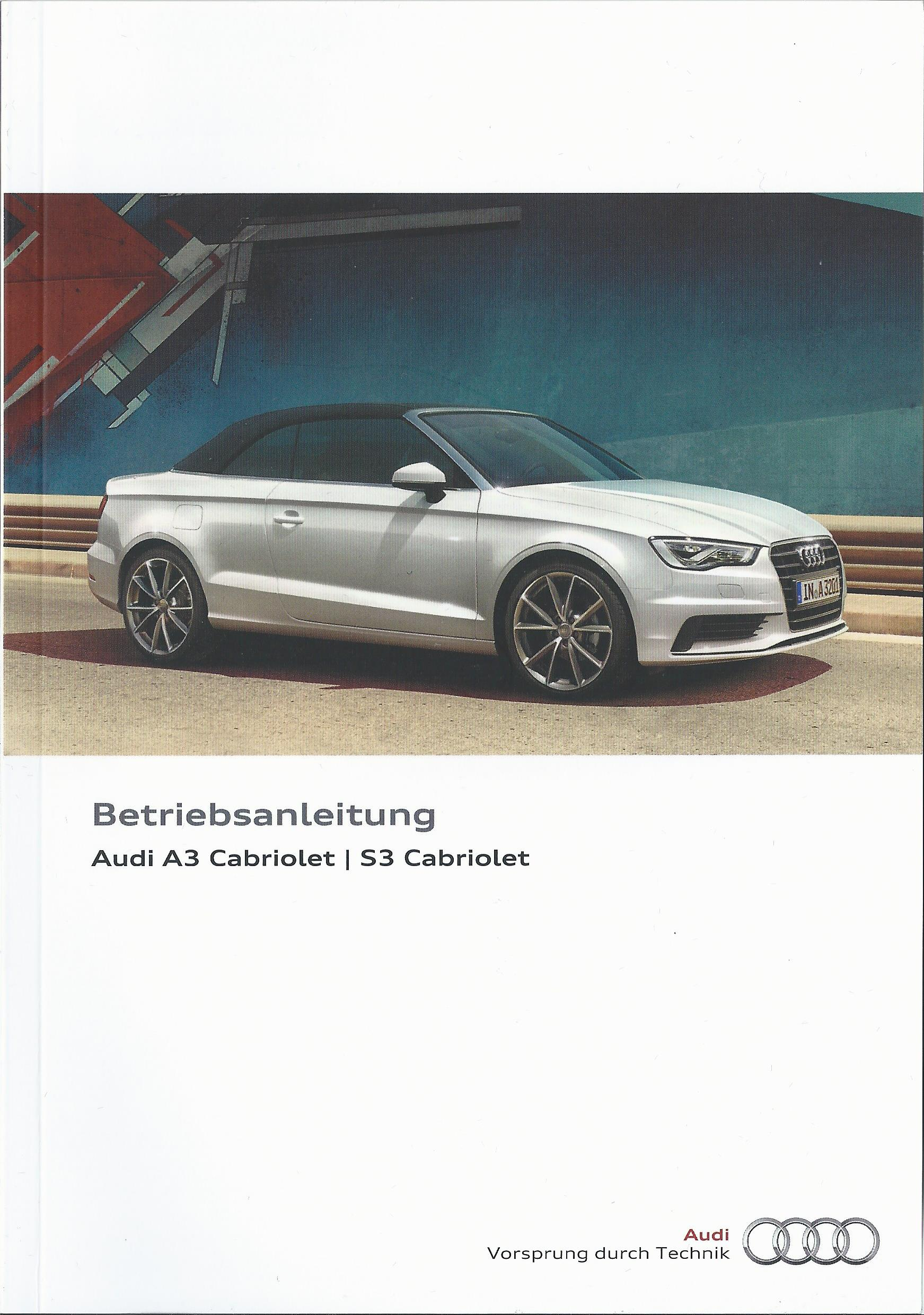 audi a3 s3 cabriolet 8v betriebsanleitung 2016 bedienungsanleitung handbuch ba ebay. Black Bedroom Furniture Sets. Home Design Ideas