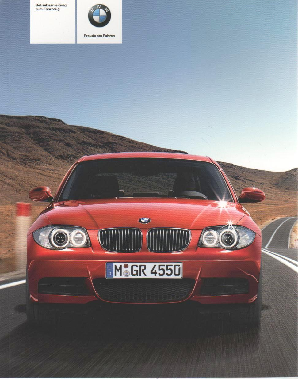 bmw 1er cabrio coupe 2008 betriebsanleitung e88 e82 handbuch ba ebay. Black Bedroom Furniture Sets. Home Design Ideas