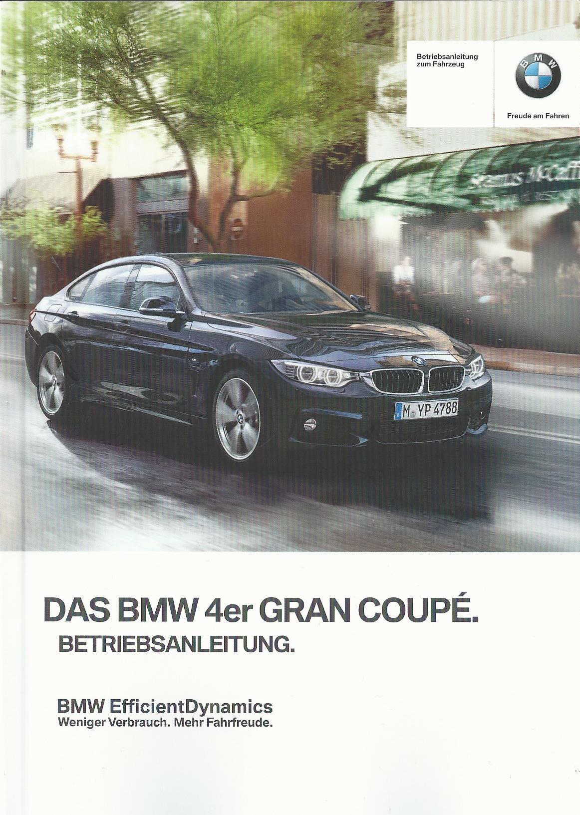 bmw 4er gran coupe betriebsanleitung 2014 handbuch f36. Black Bedroom Furniture Sets. Home Design Ideas