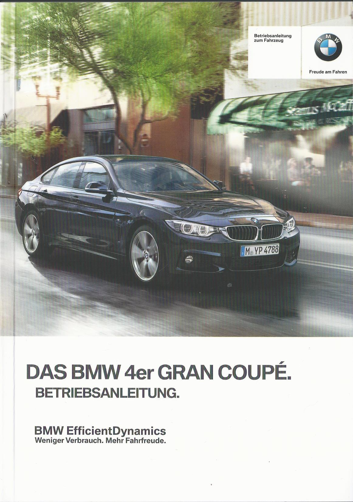 bmw 4er gran coupe f36 betriebsanleitung 2014 2015 bedienungsanleitung ba ebay. Black Bedroom Furniture Sets. Home Design Ideas