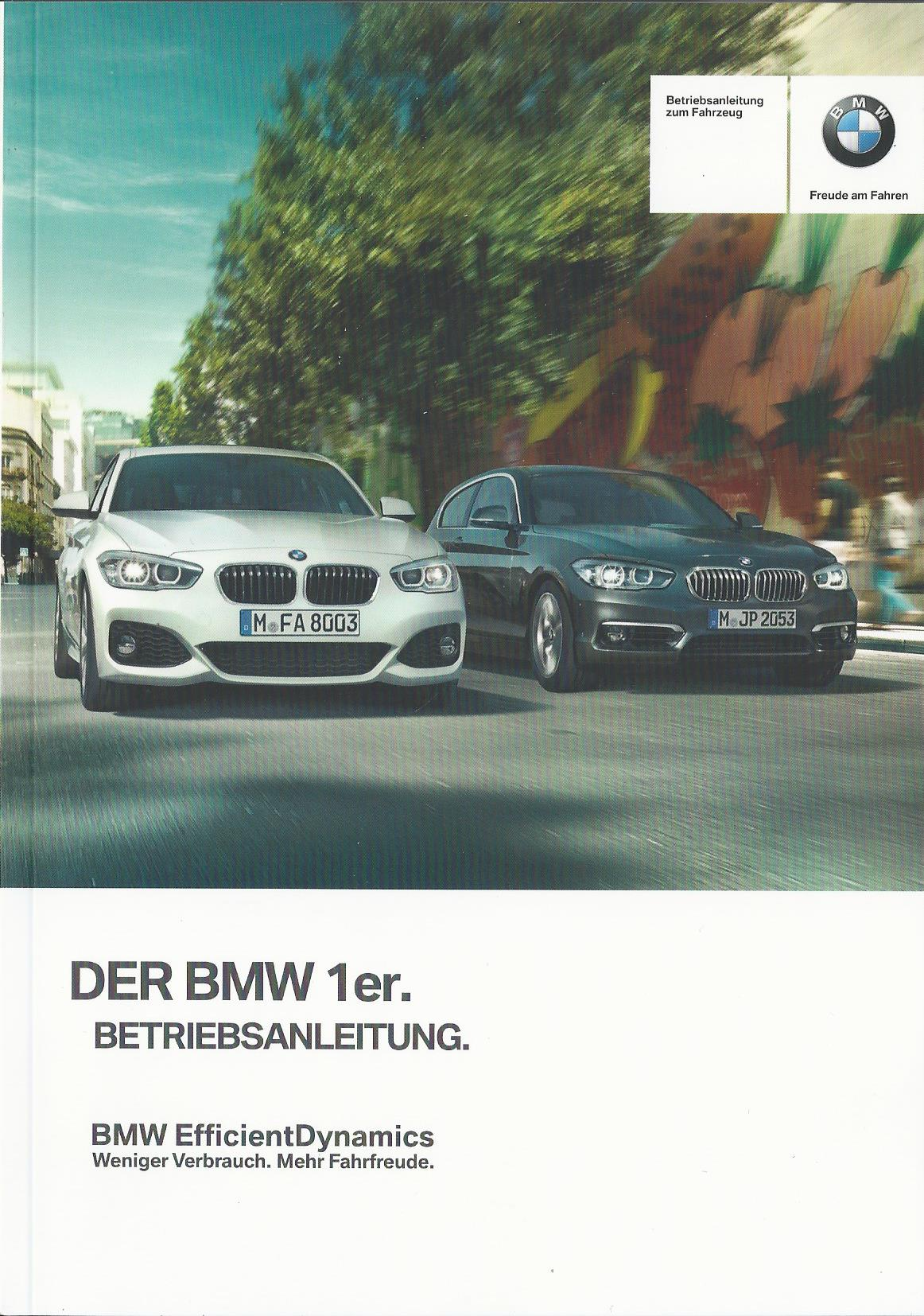 bmw 1er f20 f21 betriebsanleitung 2015 bedienungsanleitung handbuch ba 5c ebay. Black Bedroom Furniture Sets. Home Design Ideas