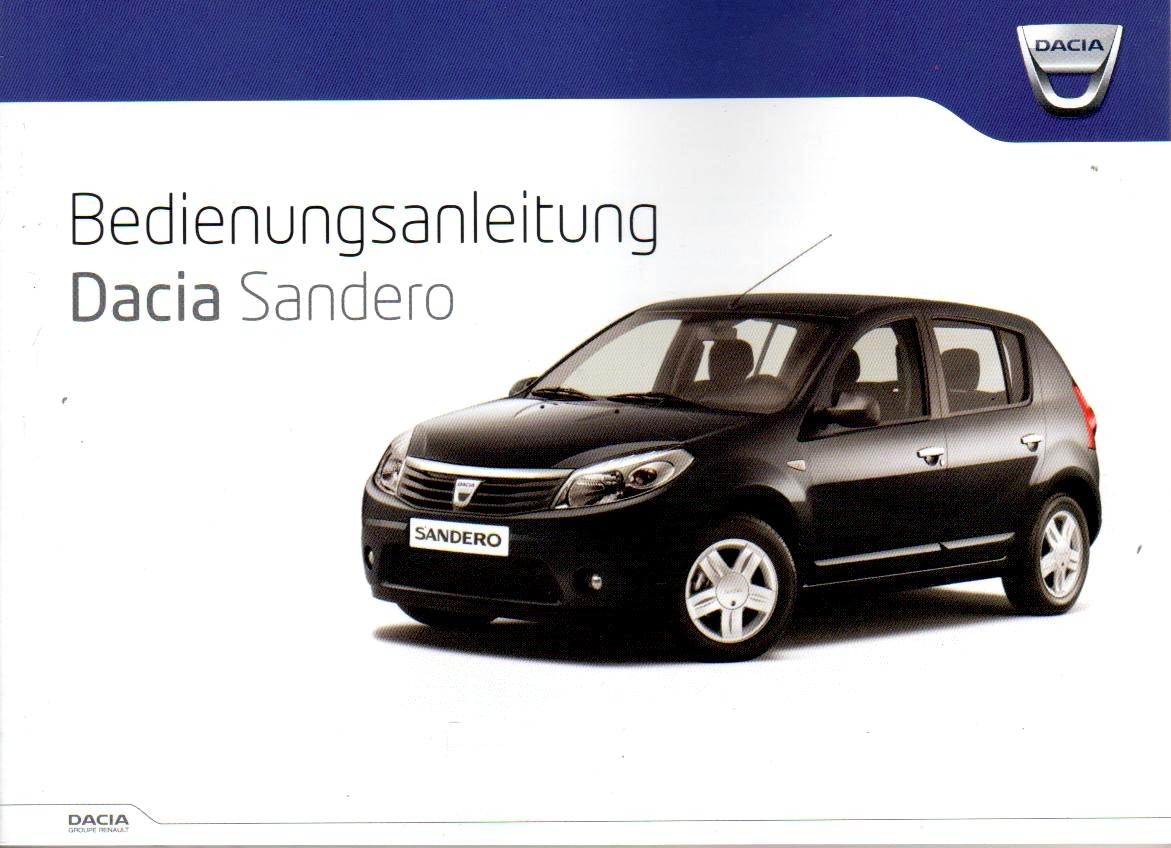 dacia sandero inkl serviceteil betriebsanleitung 2011 bedienungsanleitung ba arpsdorf. Black Bedroom Furniture Sets. Home Design Ideas