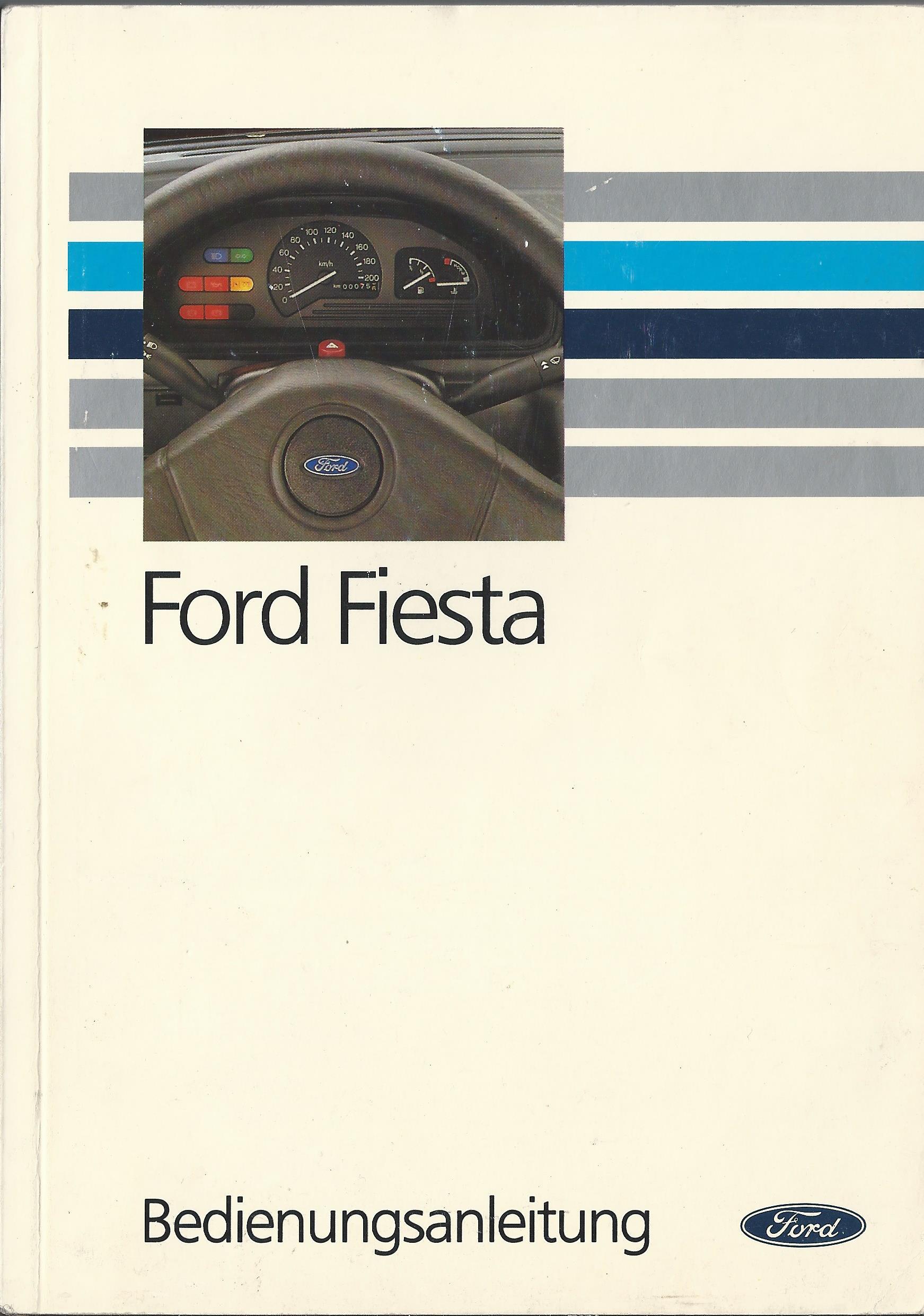ford fiesta 3 gfj betriebsanleitung 1992 boedienungsanleitung handbuch ba ebay. Black Bedroom Furniture Sets. Home Design Ideas