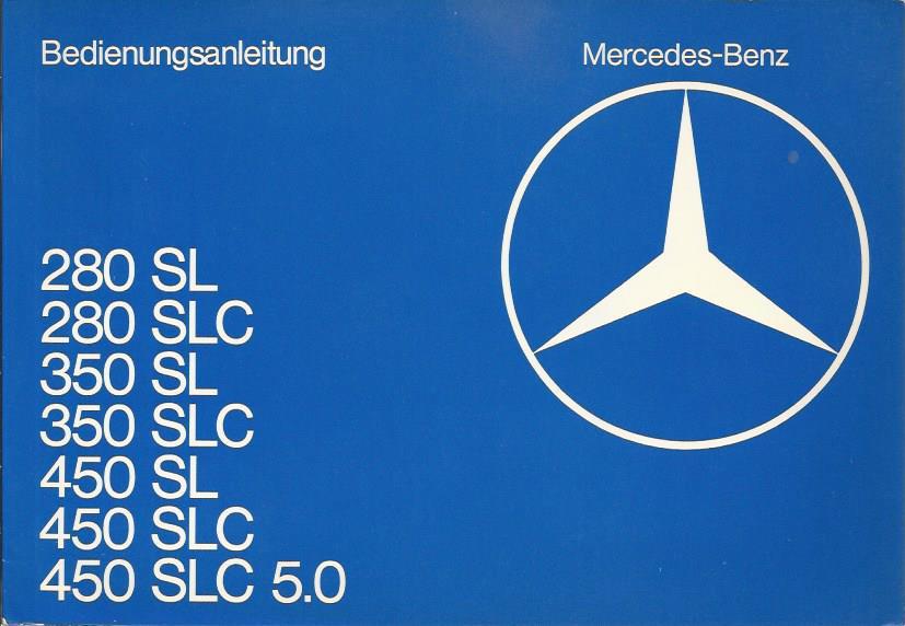 Mercedes Sl  R  Bedienungsanleitung