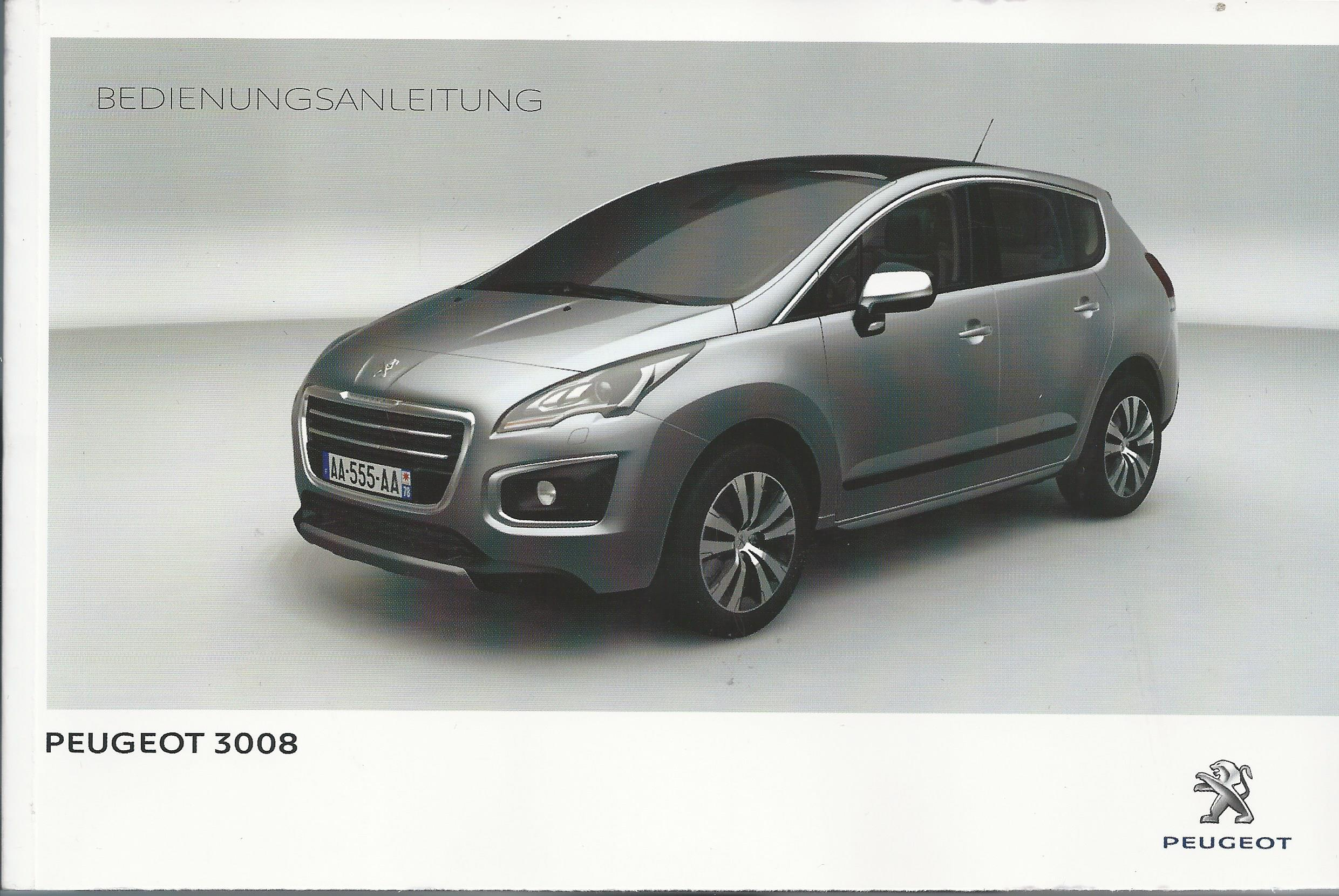 peugeot 3008 manuel 2014 manuel mode d 39 emploi ba ebay. Black Bedroom Furniture Sets. Home Design Ideas