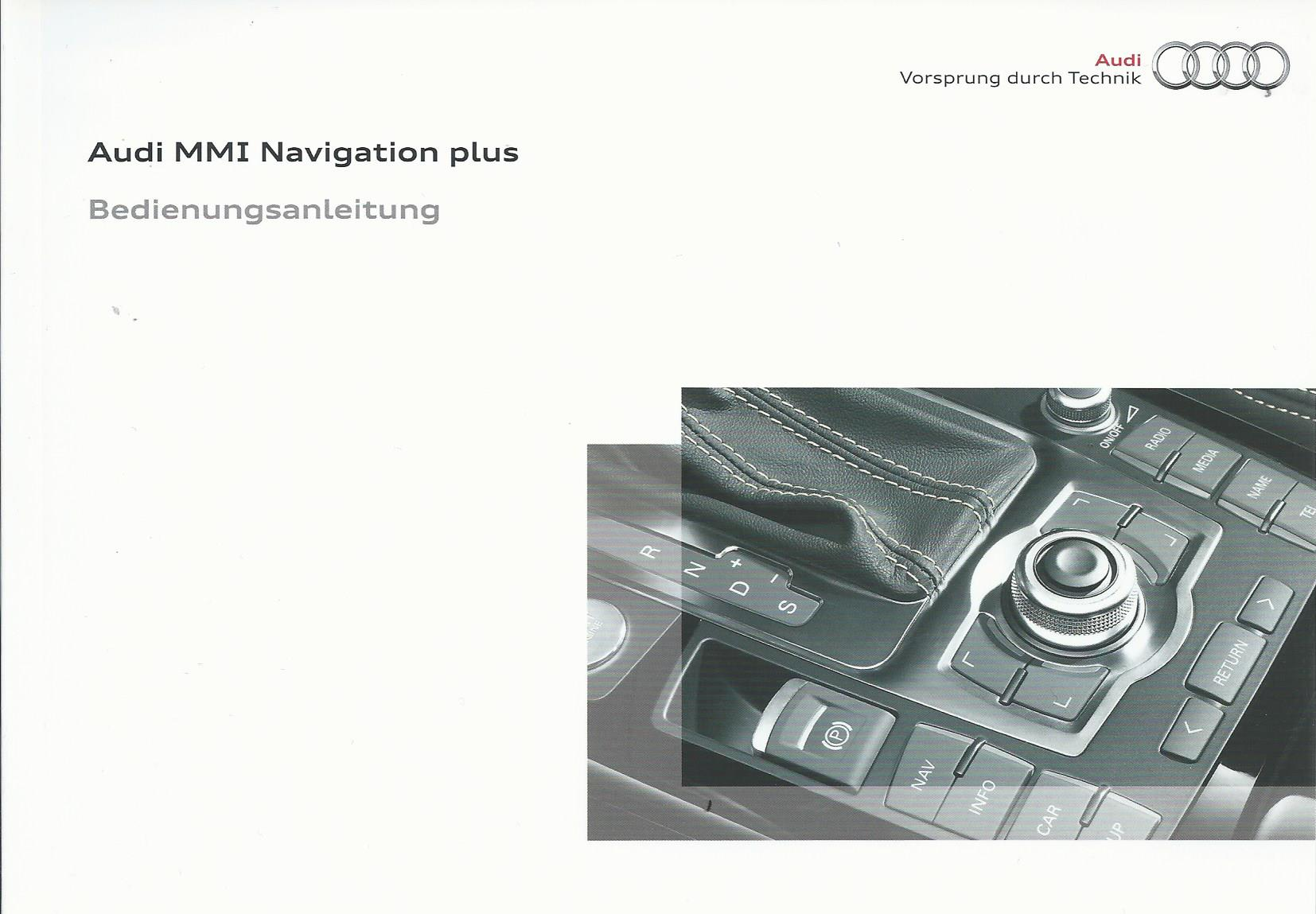 audi mmi navigation plus betriebsanleitung 2009 bedienungsanleitung handbuch rn ebay. Black Bedroom Furniture Sets. Home Design Ideas