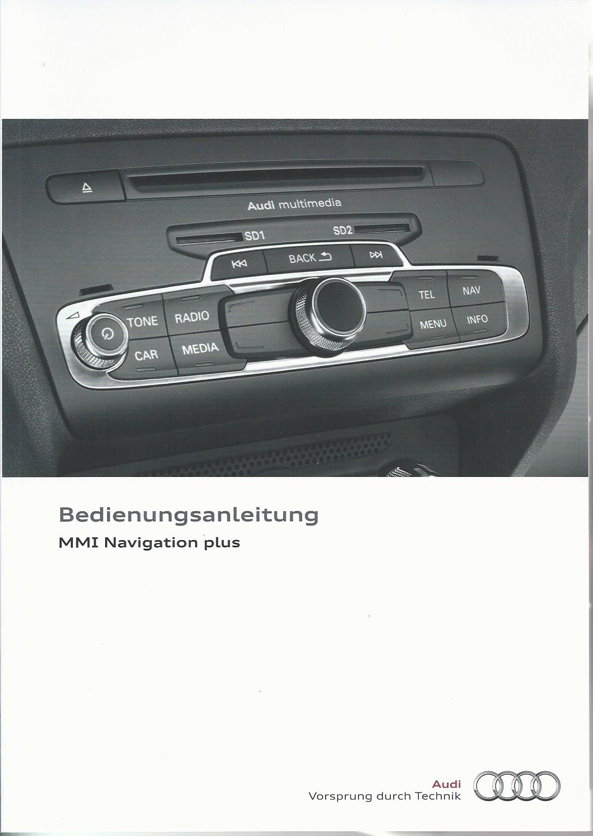 audi mmi navigation plus betriebsanleitung 2013 2014 bedienungsanleitung 1mh rn ebay. Black Bedroom Furniture Sets. Home Design Ideas