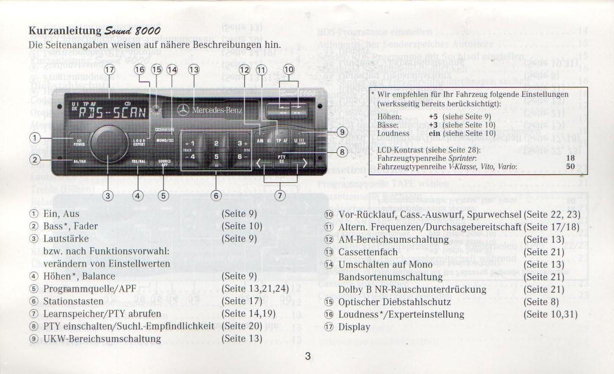 Mercedes Sound 4000 Radio Code