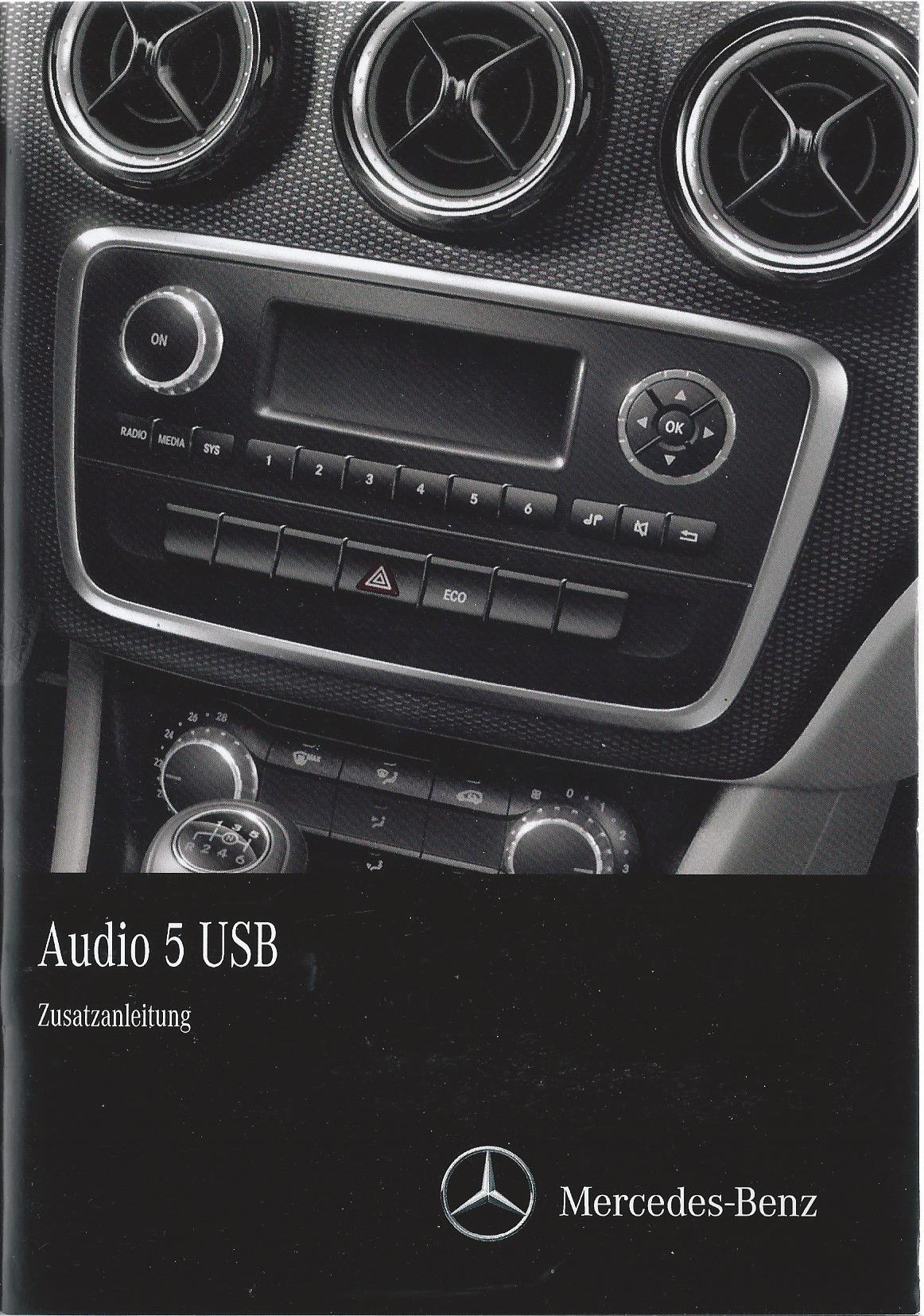 mercedes audio 5 usb 176 bedienungsanleitung 2014 handbuch. Black Bedroom Furniture Sets. Home Design Ideas