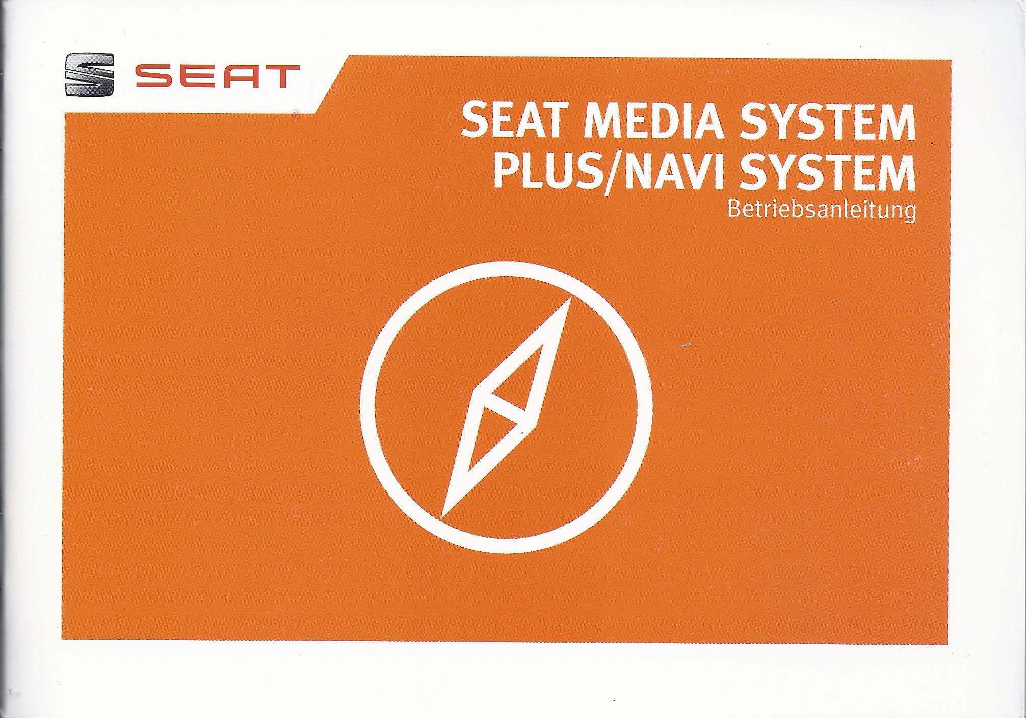 seat media system plus navi system 2015 bedienungsanleitung handbuch rn ebay. Black Bedroom Furniture Sets. Home Design Ideas