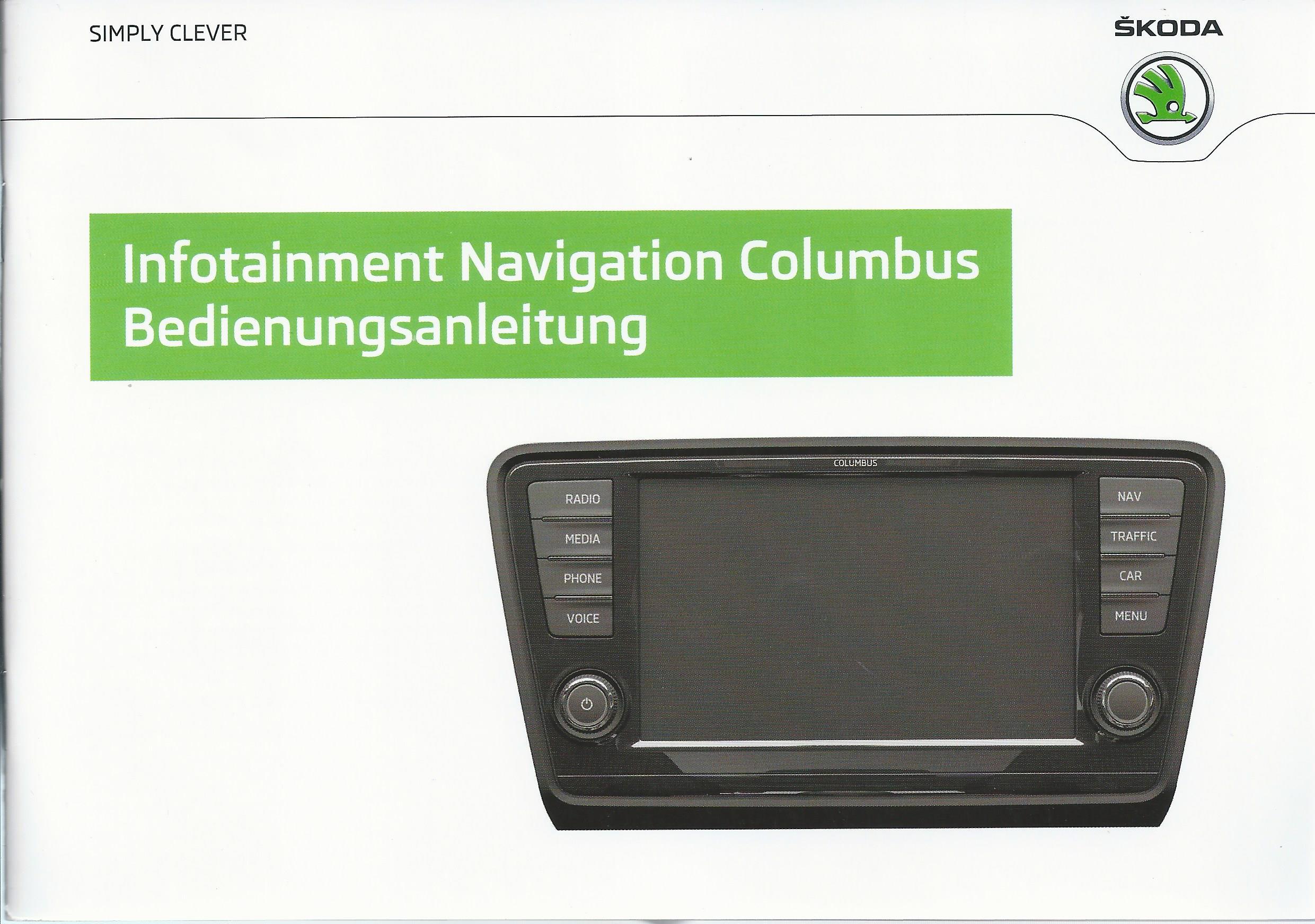 skoda infotainment navigation columbus 2012. Black Bedroom Furniture Sets. Home Design Ideas