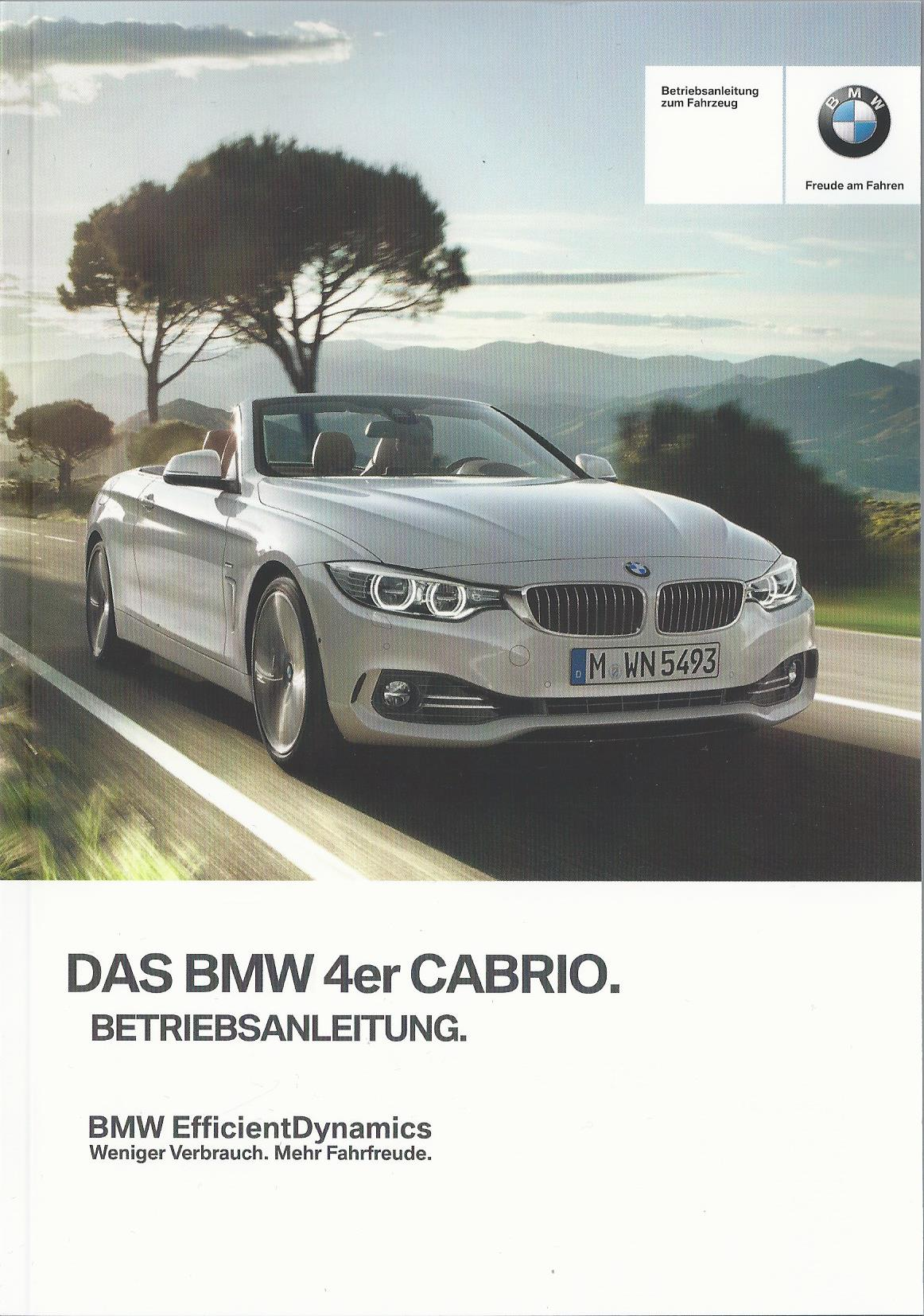 bmw 4er cabrio f33 betriebsanleitung 2015. Black Bedroom Furniture Sets. Home Design Ideas