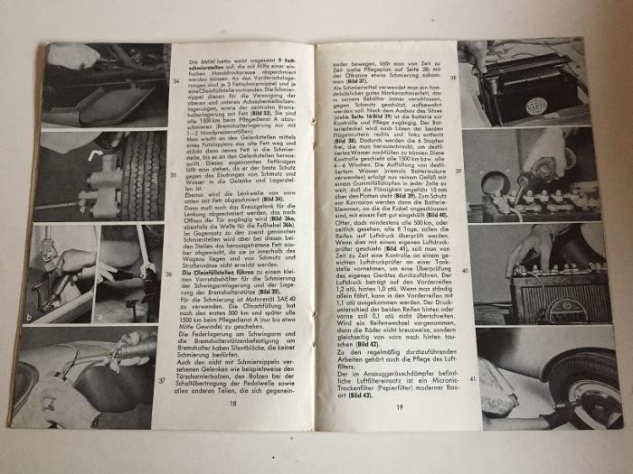BMW Isetta manuale di istruzioni 1957 manuale motocoupe manuale BA