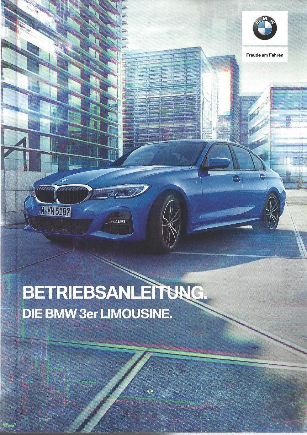 BMW 3er F30 Betriebsanleitung 2012 Bedienungsanleitung Limousine Handbuch   BA