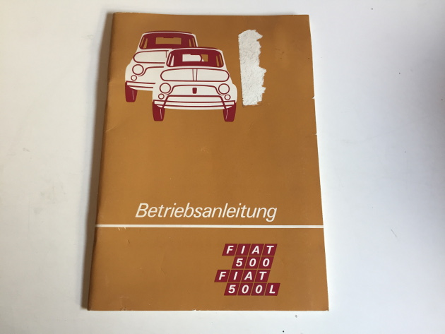 fiat 500 500 l betriebsanleitung 1973 bedienungsanleitung handbuch bordbuch ba ebay. Black Bedroom Furniture Sets. Home Design Ideas