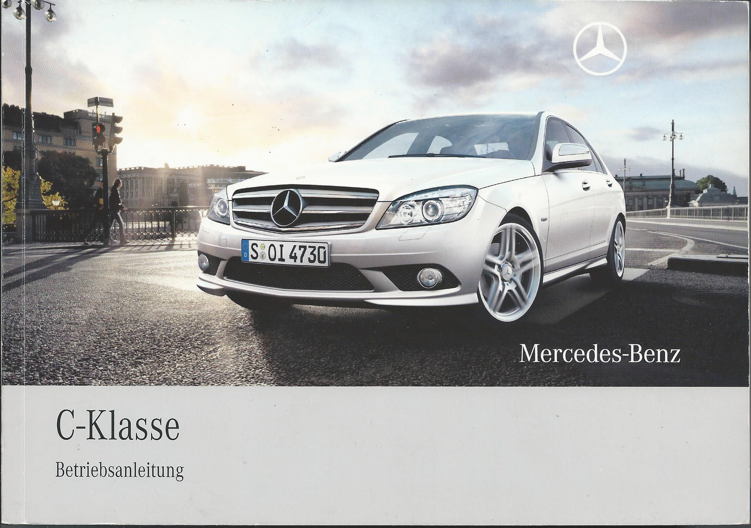 Mercedes Benz W204 C-Klasse Betriebsanleitung 2008 Bordbuch