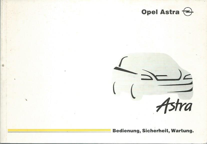 opel astra g cabrio coupe  betriebsanleitung 2001
